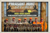 Group of hunters after a great day of pheasant hunting